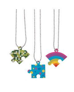Friendship Puzzle Dog Tag Necklaces