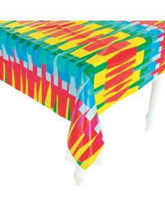 Fringe Fiesta Sarape Plastic Tablecloth Roll