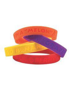 Fruit-Scented Rubber Bracelets