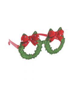 Fun Christmas Wreath Glasses
