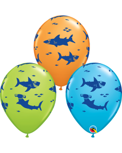 Fun Sharks Latex Balloons