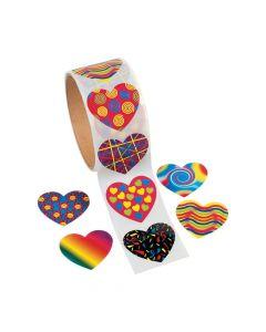 Funky Heart Sticker Rolls