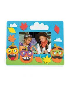 Funny Face Pumpkin Picture Frame Magnet Craft Kit