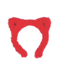 Fuzzy Christmas Cat Ear Headbands