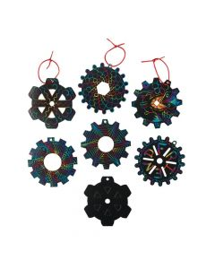 Gear Magic Color Scratch Ornaments