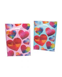 Geometric Heart Plastic Goody Bags