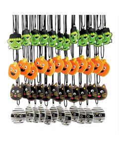 Ghoul Gang Light-Up Necklaces - 48 Pc.