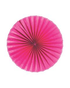 Giant Pink Hanging Paper Fans