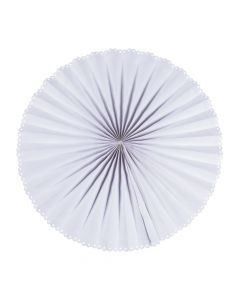 Giant White Hanging Paper Fans