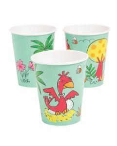 Girl Dinosaur Paper Cups