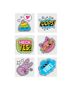 Girl Squad Party Temporary Tattoos