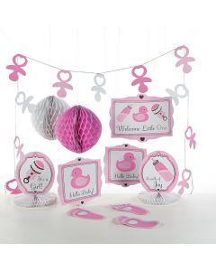Girl's Baby Shower Decorating Kit