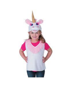Girl's Unicorn Vest and Hat Costume Set
