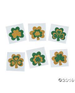 Glitter Shamrock Tattoo Stickers