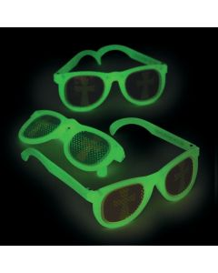 Glow-in-the-Dark Christian Pumpkin Pinhole Glasses