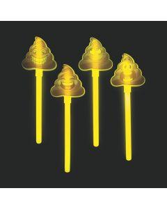 Glow Poop Emoji Wands