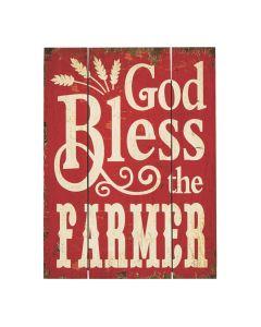 God Bless The Farmer Wall Sign