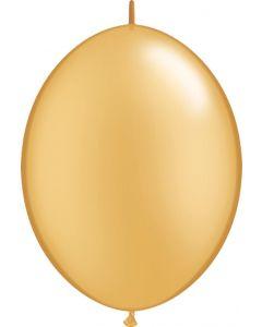 Gold 15cm Latex Quicklinks Balloons
