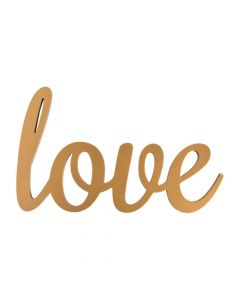 Gold Calligraphy Love Sign