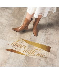 Gold Dance With Me Floor Cling