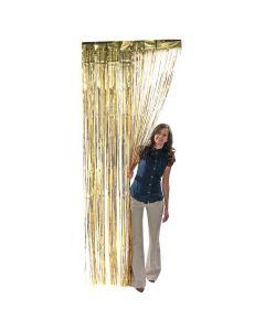 Gold Foil Fringe Curtain