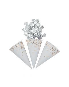 Gold Foil Scatter Dots Snack Cones