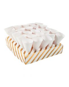Gold Foil Treat Tray with Cones