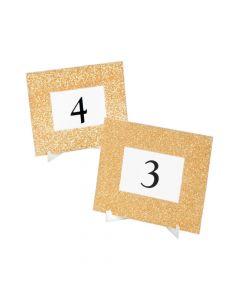 Gold Glitter Table Frames