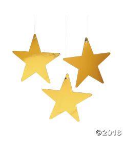 Gold Medium Metallic Stars