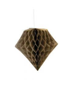 Gold Metallic Diamond Tissue Paper Hanging Decorations