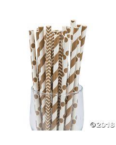 Gold Paper Straw Assortment
