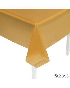 Gold Plastic Tablecloth