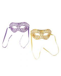 Gold and Purple Masquerade Masks