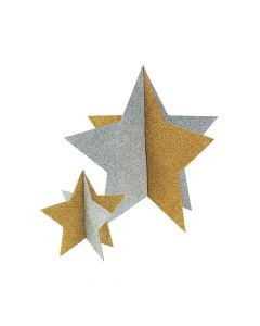 Gold and Silver Star Centerpieces