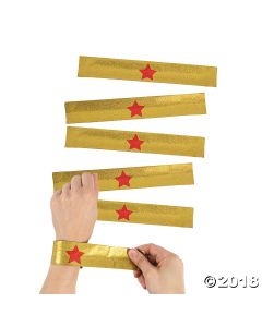 Gold Superhero Slap Bracelets
