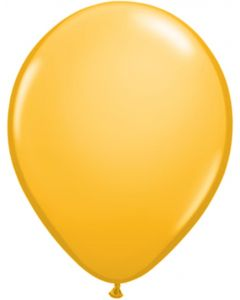Goldenrod 12cm Plain Round Latex Balloon