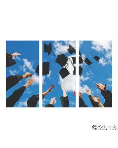 Graduation Hats Backdrop