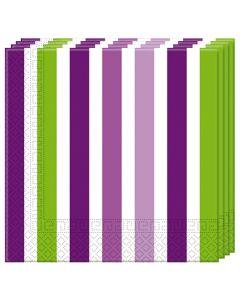 Grape Stripe Napkins