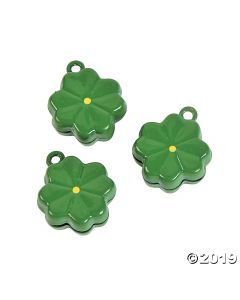 Green Clover Jingle Bell Charms