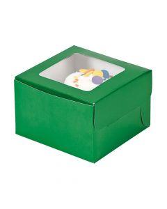 Green Cupcake Boxes