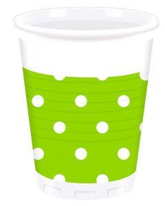 Green Dots Plastic Cup