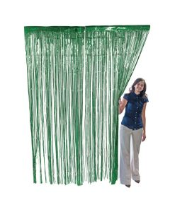 Green Foil Fringe Curtain