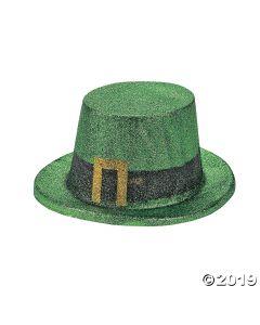 Green Glitter Leprechaun Top Hats