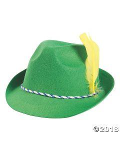 Green Oktoberfest Alpine Hat