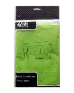 Green Plastic Table Cover