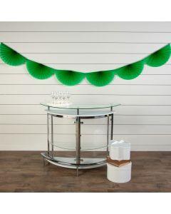 Green Semi Fanburst Tissue Garlands