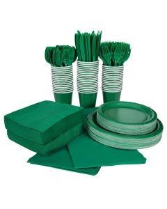 Green Tableware Kit for 48