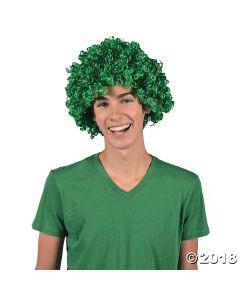 Green Team Spirit Wig