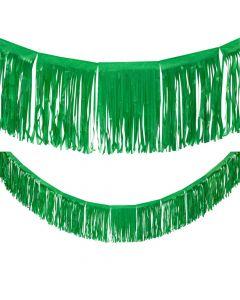Green Tissue Fringe Garland