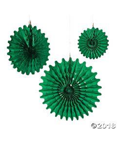 Green Tissue Hanging Fans